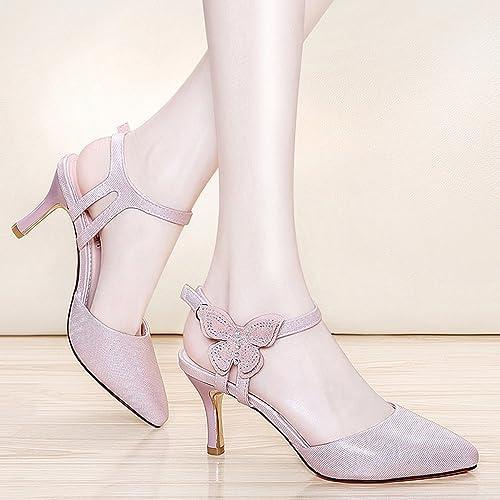 GLJXG Femmes Chaussures Printemps Wild Chaussures Talons Aiguilles Aiguilles 2 Couleur Taille optionnelle en Option  bonne réputation