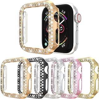 [5枚入り]Case Compatible with Apple Watch Series 5 4 3 2 1 Cover 40mm 44mm 38mm 42mm,ケースと互換性があるアップルウォッチシリーズ5シリーズ4 40mm 44mmシリ...