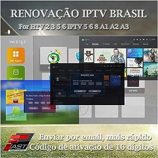 16-Digit Renew Code for HTV 1 2 3 5 / A2 / A1 / IPTV 5 6 / IPTV5+Plus IPTV Brazil/Brazilian Renewal/Portuguese TV Box Subscription Service Valid for 12 Months