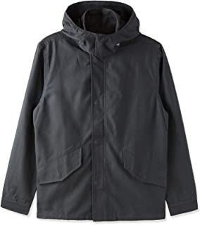Mens Casual Vintage Cotton Zip Detachable Hoodie Jacket Windbreak Coat