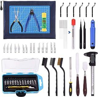 Suteck 3D Printer Tool Kit 45 PCS شامل چاقو منبت کاری تمیز کردن سوزن موچین انبردست Scraper ابزارهای اساسی با کیسه ذخیره سازی برای از بین بردن چاپگر 3D ماهیگیری