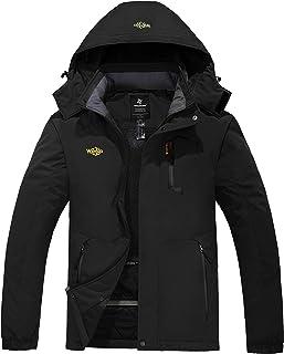Wantdo Chaqueta de Esquí de Montaña para Hombre Abrigo de Invierno Impermeable con Capucha Cazadora de Snowboard Cálida Ch...