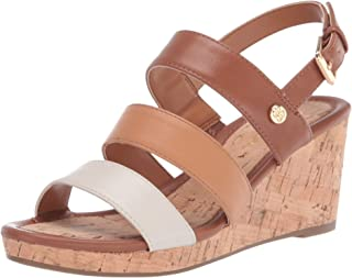 Bandolino Footwear Women's Wedge Sandal, Luggage, 5.5
