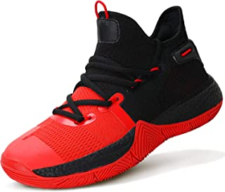 ASHION Kid's Basketball Shoes Boys Sneakers Girls Trainers Comfort High Top Basketball Shoes for Boys(Little Kid/Big Kid)