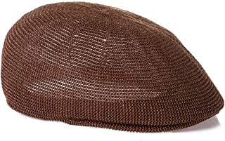 Lei Zhang Hat Summer Old Breathable Grass Yarn Sunscreen Sunscreen mesh Cap Forward Cap (Color : Coffee, Size : 58cm)