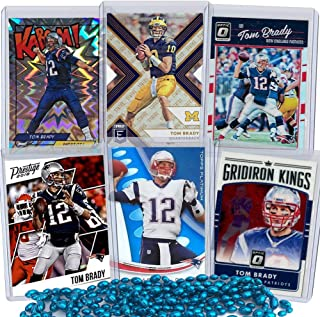 6bb781f6a32 Tom Brady Football Card Bundle, Set of 6 Assorted New England Patriots and  Michigan Wolverines