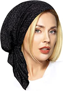 ShariRose Pre-Tied Headscarf Headwear for Women with tons of Silver Sparkles! Perfect for Those Special Occassions!