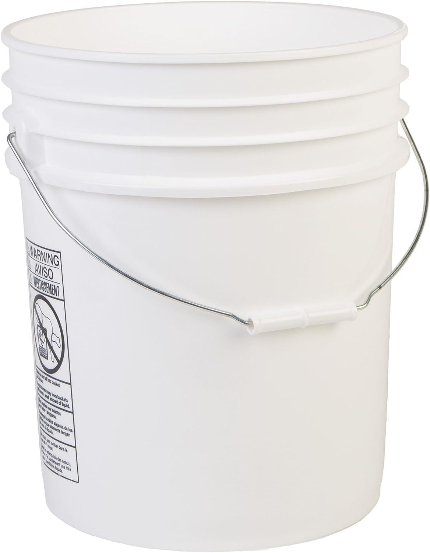 Hudson Exchange Premium 5 Bucket HDPE White Gallon Bombing new work shipfree