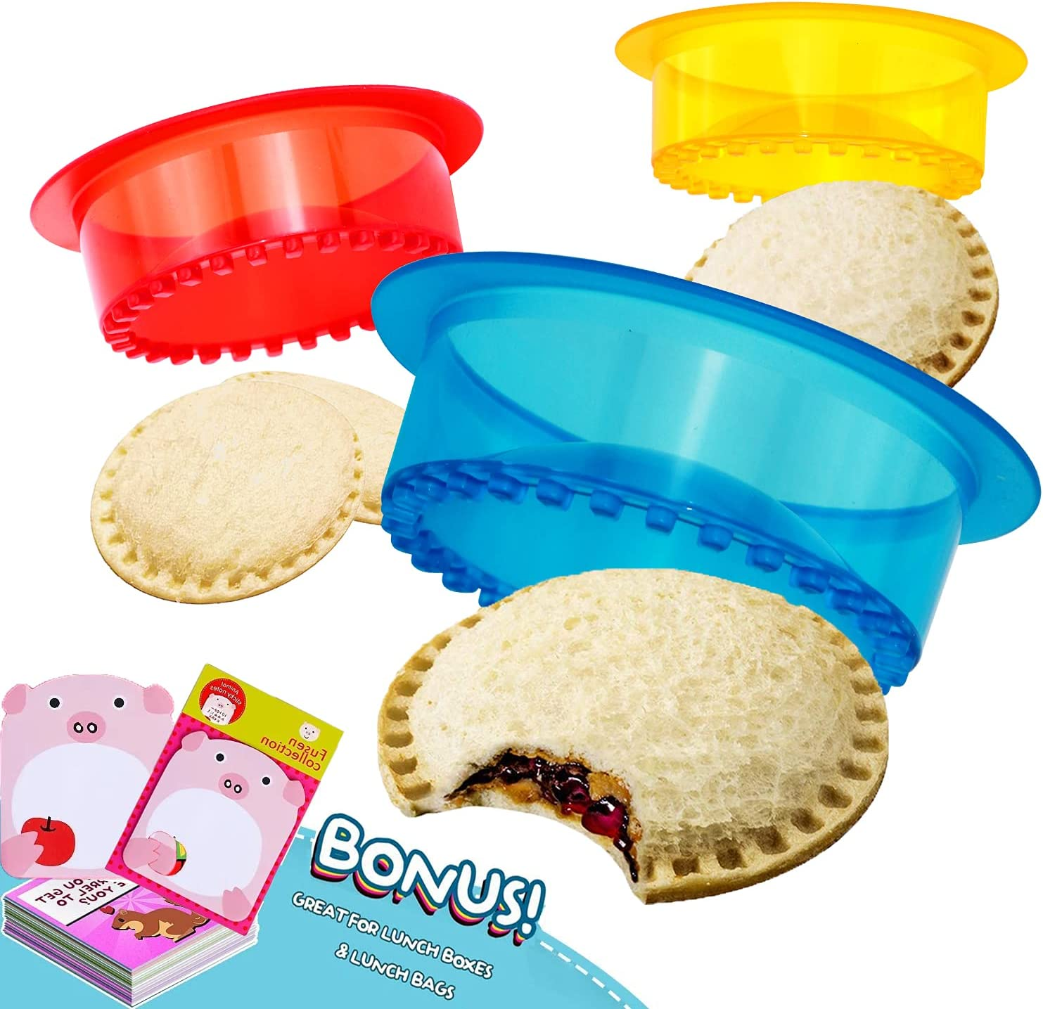 HiYZ Factory outlet Sandwich Cutter and Sealer of Uncrustables New color Pack 5