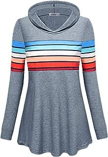 MOQIVGI Womens Sweatshirts Long Sleeve Fashion Casual Colorblock Pullover Hoodies