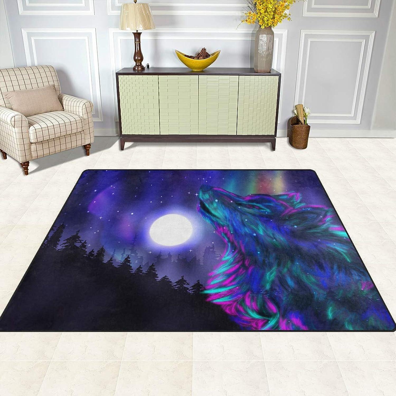 FAJRO Rainbow Wolf Rugs for entryway Doormat Area Rug Multipattern Door Mat shoes Scraper Home Dec Anti-Slip Indoor Outdoor