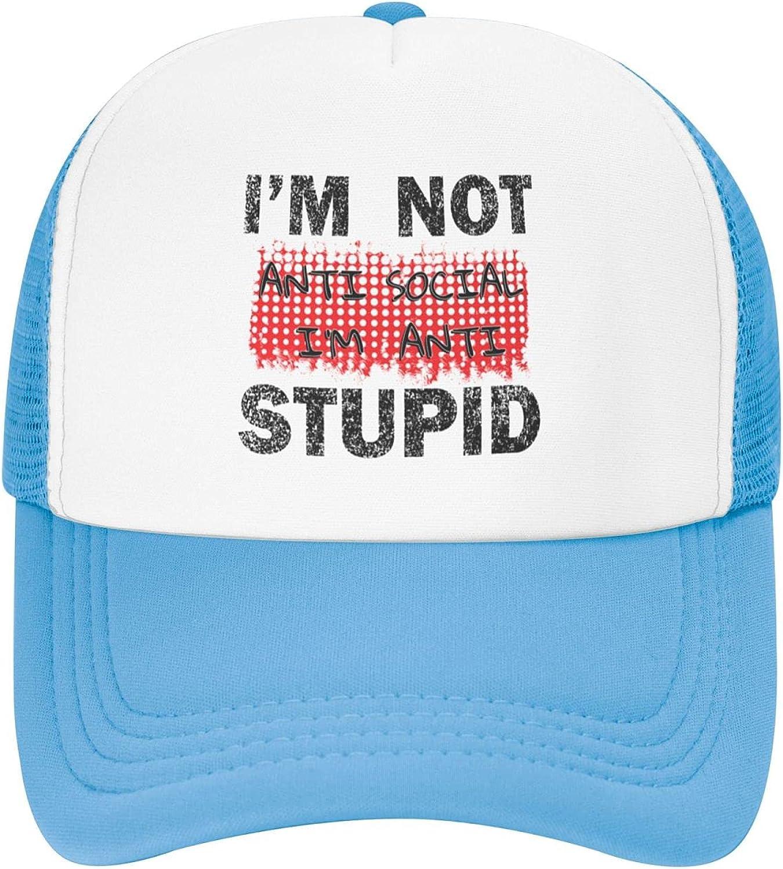 I'm Max 79% OFF Not Anti Social Toddler Hats Ranking TOP19 Cap Mesh Baseball Trucker Kids