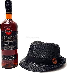 Bacardi Carta Negra Rum 1L 40% Vol  Strohhut schwarz
