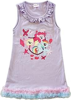wenchoice Girls Lavender My Little Pony Print Ruffle Cotton Dress 9M-8