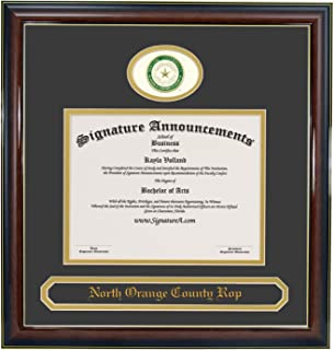 Signature Announcements Baylor University (BU) Undergraduate and Graduate Graduation Diploma Frame with Sculpted Foil Seal & Name (Gloss Mahogany w/Gold Accent, 20 x 20)