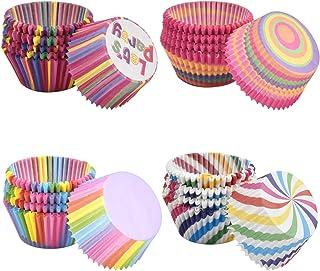 Dokpav Lot de 400 Mini Caissettes à Cupcakes pour Muffin Cupcake, Arc en Ciel Moules à Gâteaux en Papier pour Baking Desse...