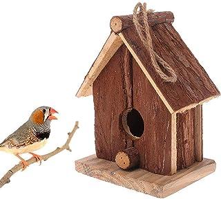 Handicraft Wooden Bird House Chinese Fir Double Slanted Bird Hanger Hanging Nest House Bird Cage