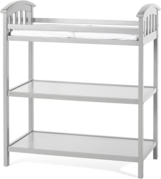 Child Craft Delaney Changing Table With Pad Cool Gray
