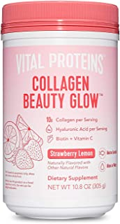 Vital Proteins Collagen Beauty Glow, Marine-Based Collagen Peptides Supplement - 10g of Collagen Per Serving - Hyaluronic ...