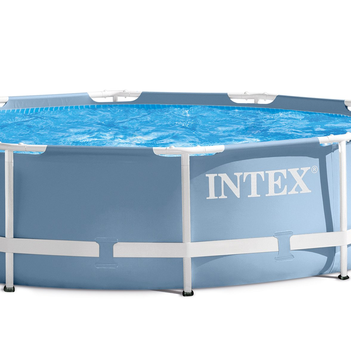 Intex Frame Pool Set Prism Rondo Piscina montable, Azul/Blanco ...