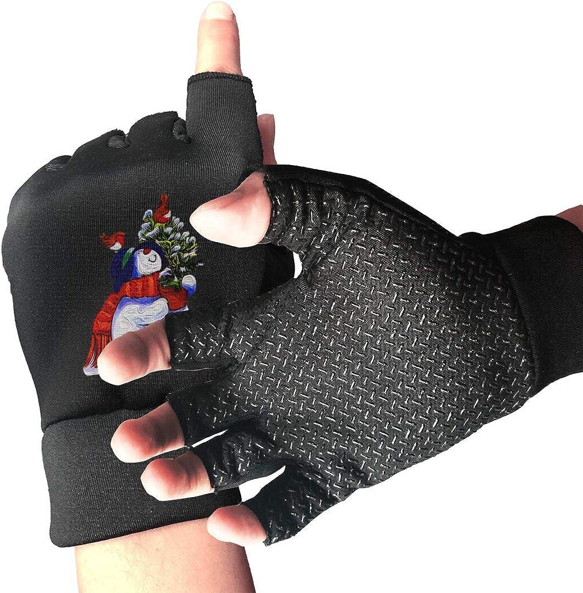 Gloves The Snowman Wears A Hat Fingerless Gloves Short Touchscreen Gloves Winter Motorcycle Biker Mitten
