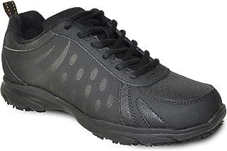 VANGELO Professional Slip Resistant Women's Work Sneaker Shoe for Food Service Health Care Nurse AVA Black