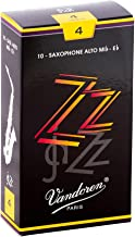 Vandoren ZZ Alto Saxophone Reeds Strength - 4, Box of 10