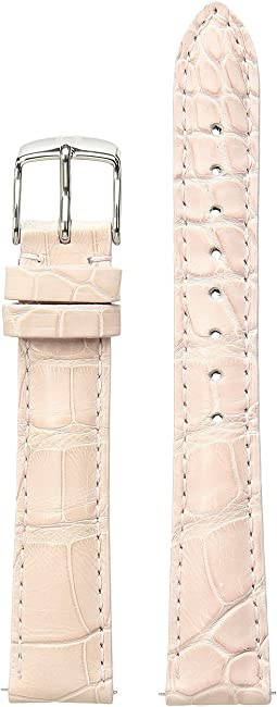 Michele - 16mm Blush Alligator Watch Strap