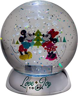 Department 56 Disney Mickey and Minnie Mouse Love and Joy Waterdazzler Lit Waterball, 4.5 Inch, Multicolor