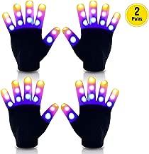 Sundy Led Gloves Kids, Kids Light Up Gloves Finger Light Flashing Gloves, Toys for for 7-14 Year Old Boys Girls Kids Party Game - Best Gift for 7-14 Year Old Boys and Girls