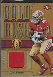 2017 Gold Standard Carlos Hyde 49ers 19/99 Gold Rush Jersey Football Card #15