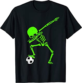 skeleton dabbing with soccer ball