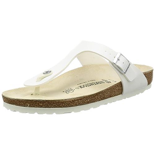 5e766e52d Women s White Patent Leather Sandals  Amazon.com