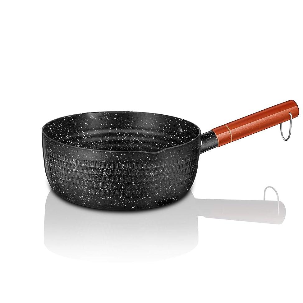 ロデオ明るい改善片手鍋 雪平鍋 18cm 行平鍋 IH対応 ガス火 槌目 和鍋 和風鍋 深型 ゆきひら キッチン 調理器具