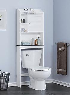 Amazoncom Wood Over The Toilet Storage Bathroom Furniture