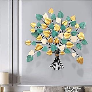 Arbre de vie Métal Art mural, décoration d'art de fer contemporain, feuilles de 3 couleurs colorées modernes, sculpture mu...