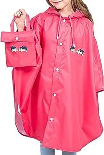 Coralup - Pantaloni impermeabili per bambini con cappuccio, per pioggia e pioggia