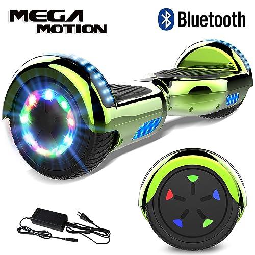 Mega Motion 6.5 Pouces Gyropode Balance Board, Scooter électrique d'auto-équilibre,Skateboard de Haute qualité,2272 LED certifié UL,Roues LED Light, Haut-Parleur Bluetooth,Moteur 700W