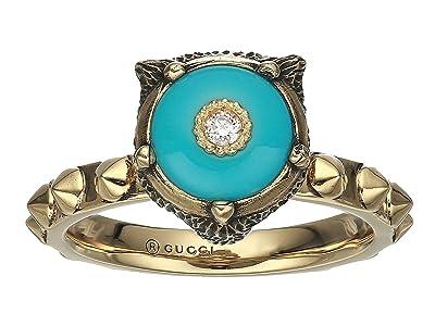 Gucci Le Marche Des Merveilles Ring (Turquoise/Gold) Ring
