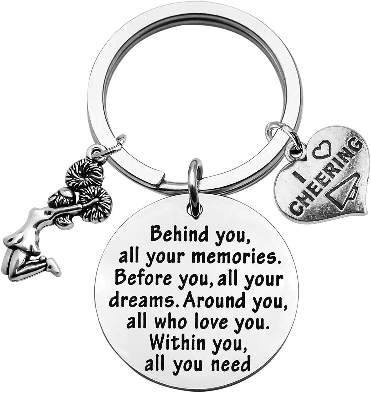 FEELMEM Cheer shopping Keychain Girl f Cheerleader Limited time trial price Cheerleading Gift