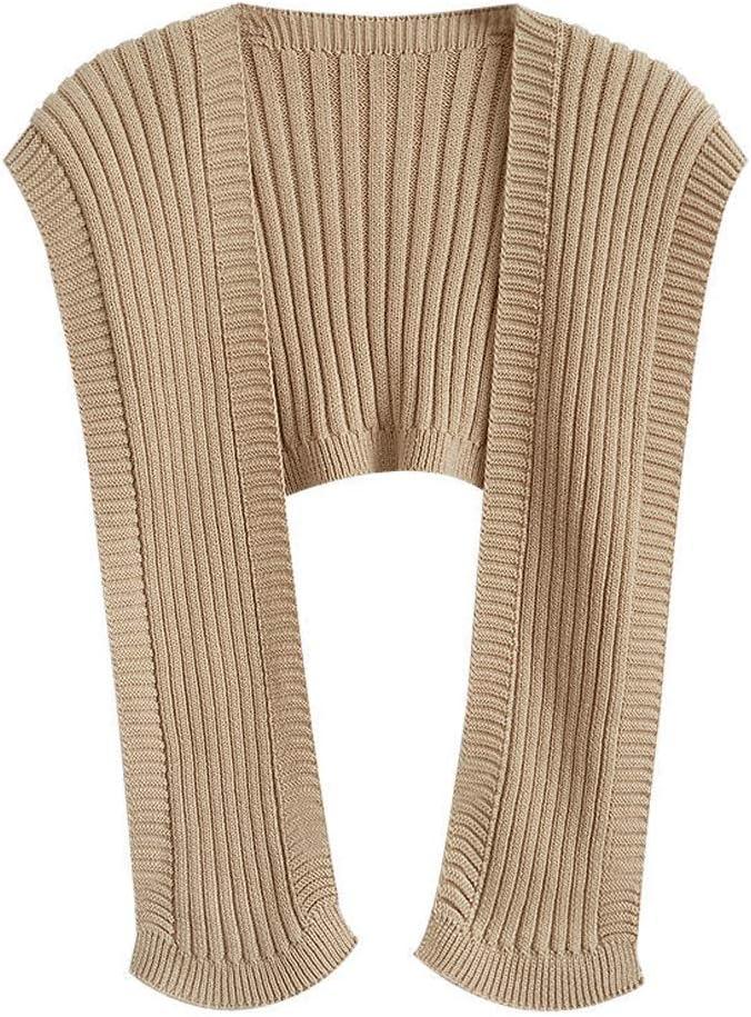 GPPZM Knit Sweaters Shawl Cloak Women Outer Wear Autumn Sleeveless Shrugs Loose Black Top Casual Simple Bib Waistcoat (Color : C)