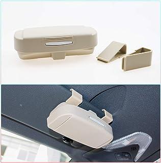 RUIYA Car Glasses Case Auto Accessories Universal Sun Glasses Holder for Maruti Suzuki Car-Styling Organizer Box Arrangement Car Storage Pockets (Beige)