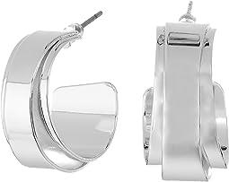 LAUREN Ralph Lauren - City Chic Silver Metal Double Wrap Hoop Earrings