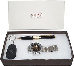 MMHB SPY Combo Offer Wristwatch Camera + Pen Camera + Keychain Camera 3 in 1 by MMHB Brand 16GB Wristwatch + 32 GB SUPPORT...