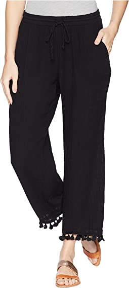 Double Gauze Pull-On Pant with Tassels