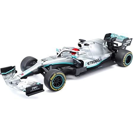 Maisto Tech R/C F1 Mercedes AMG Petronas W10 (2019): Coche teledirigido Lewis Hamilton a Escala 1:24, fidelidad 1, 2,4 GHz, Mando a Distancia, 22 cm, Color Plateado (582352)