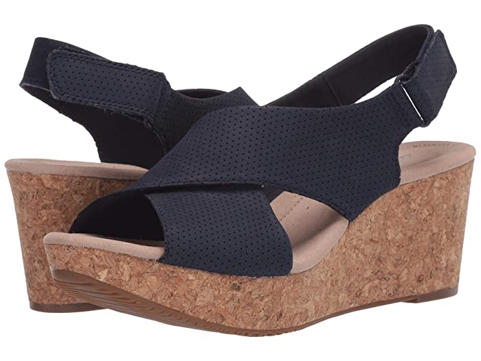 Clarks  Annadel Parker (Navy Suede) Womens Shoes