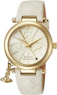 [ヴィヴィアンウエストウッド]Vivienne Westwood 腕時計 ORBII ホワイト文字盤 白革 レディース VV006WHWH レディース 【並行輸入品】