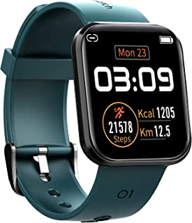 Fitcomm Smart Watch, IP67 Waterproof Fitness Tracker with Heart Rate Monitoring & Sleep Tracker, Compatible with iOS Andro...