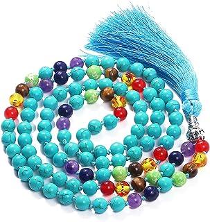 Mala Beads 108 8mm Mala Necklace Japa Mala Hand Knotted Tibetan Mala Prayer Beads Meditation Beads Yoga Necklace